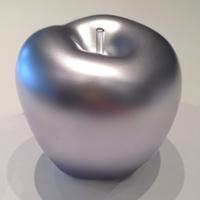 Silberner Apfel