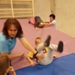 Turnprojekt mit den Vorschulkindern und der Spielvereinigung Pfreimd in der Turnhalle der LGU - Schule