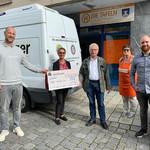 Spendenübergabe vom Roundtable Schwandorf nach erfolgreichem Turnier