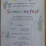 Sommerfest am  Freitag, 24.05