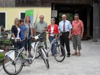 Offizielle E-Bike-Übergabe