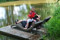 Erholung am Fluß