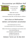 Neuer Termine 2015: Bierbrau - Seminare