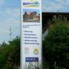 Nahansicht Werbepylon 400x120x30 cm Standort Zapfendorf
