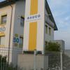 Werbepylon Plan 420x170x20 cm mit ext. Ausleuchtung Standort Crailsheim
