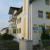 Seitenansicht Werbepylon Plan 420x170x20 cm Crailsheim